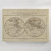 Vintage Map Of The World Personalized Map Canvas Prints - 22440