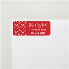Merry & Bright Personalized Return Address Labels - 22453