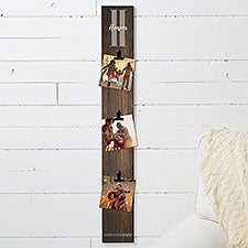 Farmhouse Initial Personalized Photo Clip Frame Wood Sign - 22471
