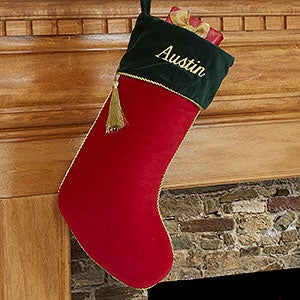 Personalized Christmas Stockings - Red Velvet - 12476-R