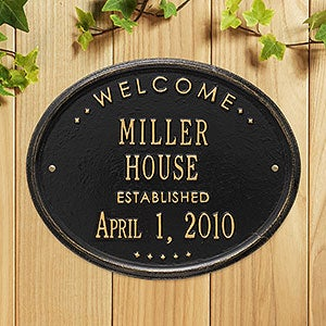 55337be139cea Personalized House Plaque - Home Established