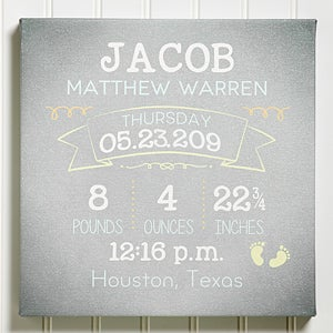 Personalized Baby Frame I Am Special Birth Announcement