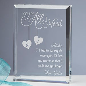 Romantic Wooden Postcard Your E All I Need