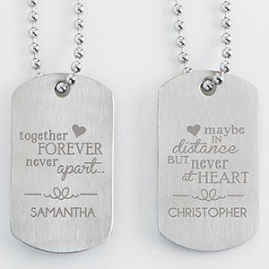 Personalized His Hers Dog Tag Set