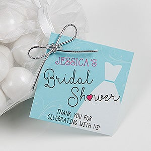 the dress bridal shower personalized gift tags 16830