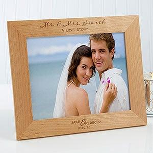 Personalized Wood Wedding Frame Wedding Elegance 8x10 Wedding Gifts
