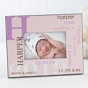 Personalized 5x7 Picture Frame Baby Boy