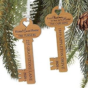New Home House Apartment Red Door PERSONALIZED Christmas Tree Ornament GIFT