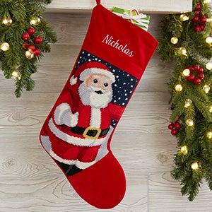 Personalized Needlepoint Christmas Stockings - Santa - 17317-S