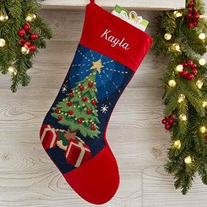 Personalized Needlepoint Christmas Stockings - Christmas Tree - 17317-T