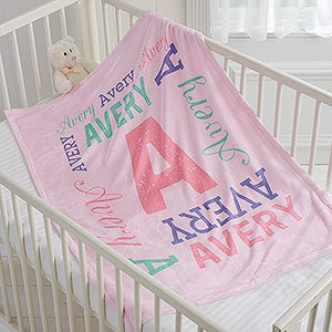 097bb11a3 Repeating Name Personalized 30x40 Fleece Baby Blanket