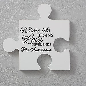 Personalized Romantic Wall Puzzle Pieces Romantic Quotes Quote 3