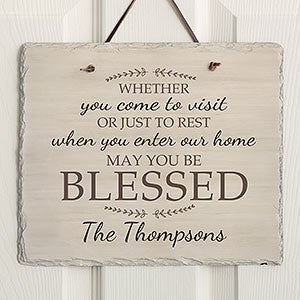 Personalized Slate Signs Plaques Personalizationmall Com