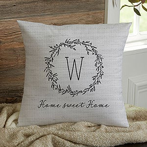 Personalized Pillow featuring RHETT in photos of sign letters; Custom couch cushions; Colorful pillows; Photo pillow; Sofa pillows