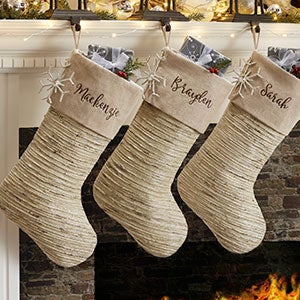Winter Sparkle Personalized Christmas Stocking - 19000