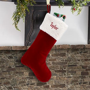 "Red Velvet 19"" Personalized Christmas Stocking - 19004-19"