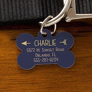 Hello My Name is Custom Art Dog Pet Cat ID Identification Tag Bone Shape Image Photo Personalized with Key Ring