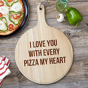 Ensemble-cadeau de planche à pizza 3 pièces Pizza Expressions personnalisé - 19528
