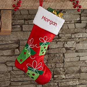 ef377cd89 Festive Present Personalized Christmas Stocking