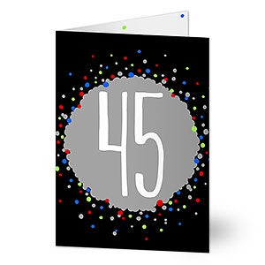 Personalized Age Birthday Greeting Card For Him