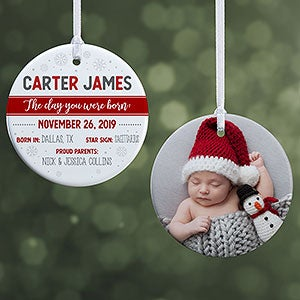 Christmas Gifts For Parents From Infants.2019 Baby S First Christmas Ornaments Personalization Mall