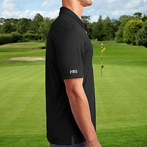 6b399ca6 Embroidered Sleeve Black Adidas® Polo Shirt - 21801. Adidas Golf Shirt
