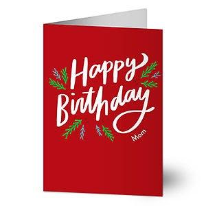 Happy Birthday Holiday Greeting Card