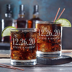 Personalized Cocktail & Whiskey Glasses | Personalization Mall