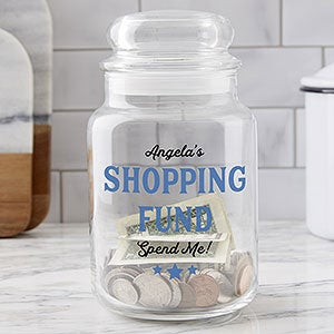 College Fund Personalized Glass Money Jar