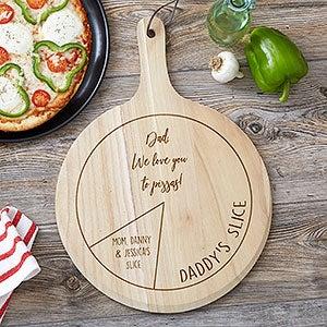 Ensemble-cadeau personnalisé de planche à pizza 3 pièces We Love You to Pizzas - 23802