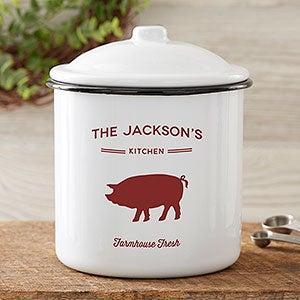 Boîte émaillée personnalisée Farmhouse Kitchen - Moyen - 24039-M