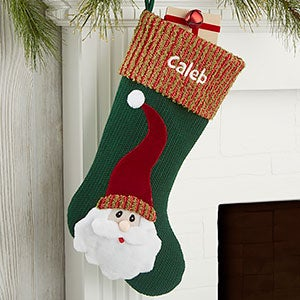 Santa Whimsical Hat Personalized Christmas Stocking - 24826-S