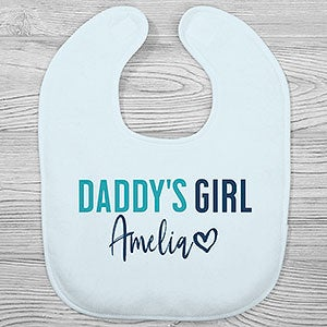 Custom Baby Bibs Burp Cloths I Love My Uncle Style B Cotton Baby Items for Baby Girl /& Boy White Black Design Only