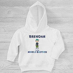 Personalised Any Name Big Brother Boys Kids Hooded Top Hoodie