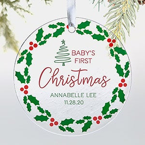 Baby/'s first Christmas ornament\u2022Baby/'s first Christmas keepsake\u2022Personalized baby ornament\u2022Baby girl\u2022Baby boy\u2022Baby name ornament