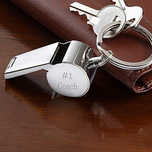 7cb1e2c2abc Personalized Stainless Steel Whistle Key Ring - 5449
