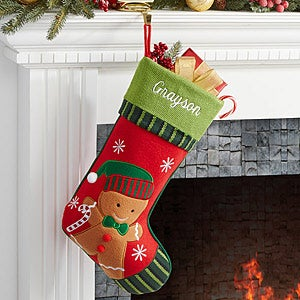 Personalized Christmas Stockings - Gingerbread Boy - 6316-GB