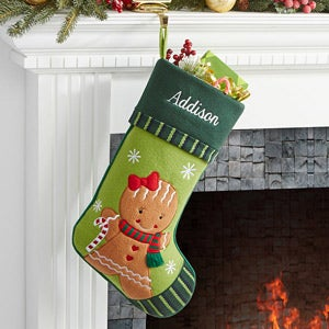 Personalized Christmas Stockings - Gingerbread Girl - 6316-GG