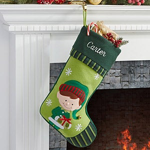 Personalized Christmas Stockings - Boy Elf - 6316-BE