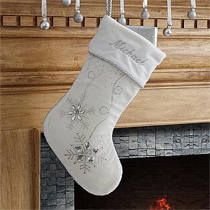 Personalized White Christmas Stockings - 9139-W