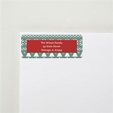 Sage and Red Holiday Address Labels  - 22508