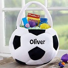 Custom Embroidered Soccer Ball Easter Basket - 22540