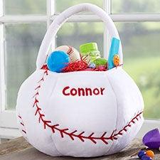 Custom Embroidered Baseball Easter Basket - 22541