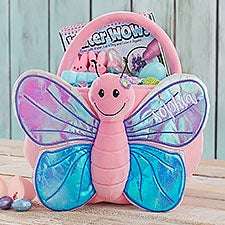 Custom Embroidered Butterfly Easter Basket - 22543