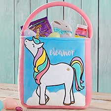 Custom Embroidered Unicorn Easter Basket - 22544