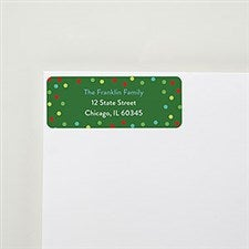 Merry & Bright Party Return Address Labels  - 22562