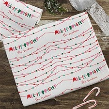 All Is Bright Personalized Wrapping Paper - 22597