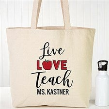Live Love Teach Personalized Teacher Tote Bags - 22608