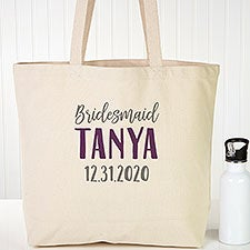 Personalized Tote Bags For Bridesmaids - Bridesmaid On The Go - 22611