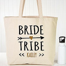 Bride Tribe Personalized Canvas Tote Bags - 22613
